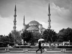 Rain and the Blue Mosque, Sultanahmet - Istanbul (adde adesokan) Tags: rain turkey europe day olympus istanbul trkei m43 mft mirrorless microfourthirds mirrorlesscamera