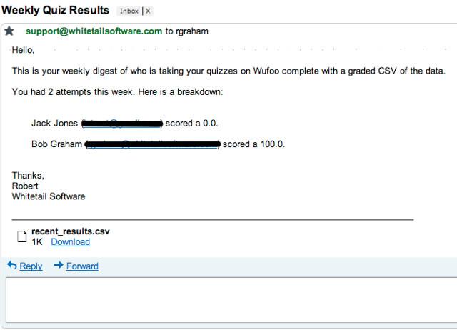 Admin Quiz Results