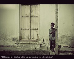"""""""All kids need is a little help, a little hope and somebody who believes in them."""" (Pattugrapher) Tags: street portrait india kids children hope hyderabad"""