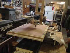 CNC Router at Milwaukee Makerspace (Pete Prodoehl) Tags: milwaukee router machines cnc cncrouter makerspace milwaukeemakerspace mkemakerspace