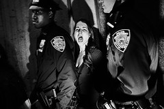 ... by Tomasz Lazar - Girl arrested in Harlem during a protest against police violence.   You can see all material about New York protest on my site:  tomaszlazar.pl/features/united-states-of-debt/