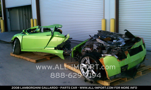 Parting Out A Wrecked 2008 Gallardo Lots Of Good Parts