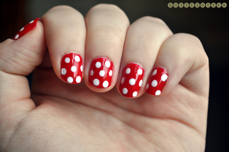 minnie mouse notd nail polish models own white snow opi colour so hot it burns