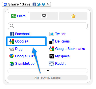Share to Google+ within AddToAny