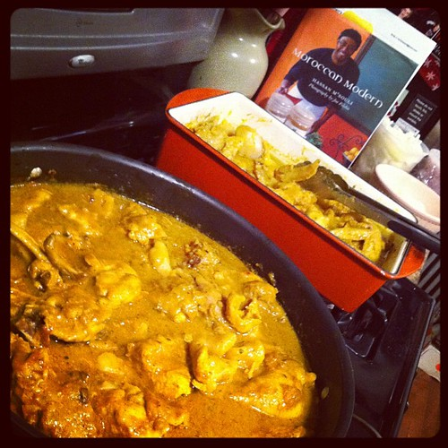 Prepping Jamaican Curry Chicken for Midnight Brunch