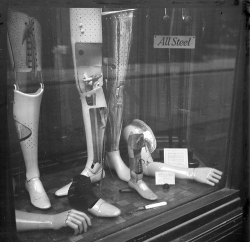 Aftermath of the second world war. Shop window in London 1946 by Stockholm Transport Museum Commons