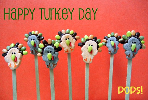 thanksgiving day turkey pops