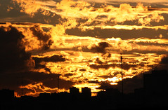 Hypnotize  ~  11/11/11 (Deydre Alonso Rosillo) Tags: madrid sky espaa orange cloud black building yellow clouds buildings spain edificios warm negro edificio hell aerial amarillo cielo nubes inferno antena once naranja eleven nube aerials 111111 antenas infierno hypnotize clido