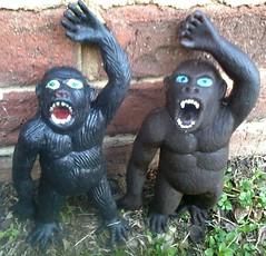 Uncommon Ape Jigglers (Hong Kong) (Rat Dragon) Tags: animal vintage gorilla rubber collection ape 70s rare jiggler