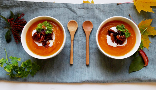 butternut squash + apple bisque