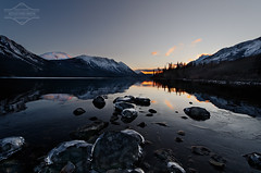 Icy Evening at Windy Arm (kdee64) Tags: november autumn cold alaska reflections evening north calm skagway yukon conrad alpenglow freezeup northernbritishcolumbia skagwayroad tagishlake windyarm mountracine TGAM:photodesk=reflection2012