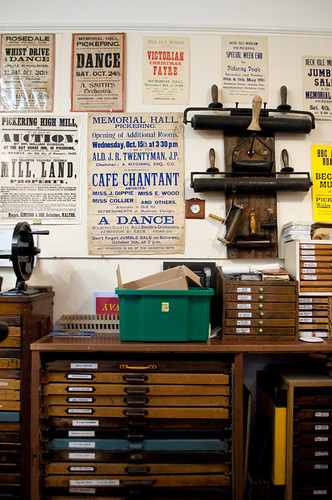 print press room, beck isle museum, pickering