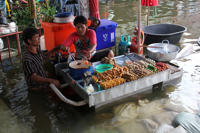 Selling Snacks in the Flood