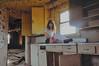 (yyellowbird) Tags: house selfportrait abandoned kitchen girl yellow socks illinois lolita cari bows
