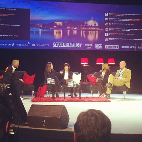 Samtal om teven som social hub med bl.a TV4 och BBC #sime11