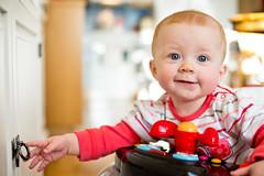 Little mischievous (cablefreak) Tags: baby fun energy play mischievous filippa gh2 voigtlndernokton25095