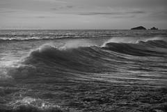 De que color es el viento? (sOnia A.) Tags: sea bw island mar waves stones noviembre ibiza tormenta olas isla rocas islote 2011 calacomte