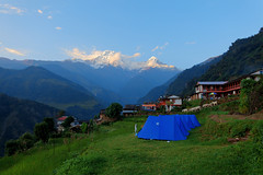 Dream land  (ABC-D1) (Poorfish) Tags: nepal trekking village peak tent annapurna dakshin    annapurnasouth hiunchuli landrung landruk annapurnaconservationarea