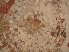 Plaster of pallet - Platja d'Aro (Loubeybell) Tags: pink red orange white paris green circle spain globe path cream cyclops plaster patio sphere maze costabrava platjadaro