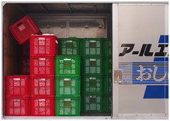 all but one (It's Stefan) Tags: red green japan truck tokyo laundry boxes minimalism minimalistic