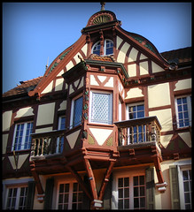 huis in Haslach (annelies_visser) Tags: germany deutschland schwarzwald duitsland fachwerk gevel haslach zwartewoud kinzigtal vakwerkhuis