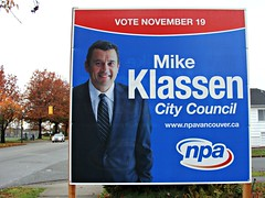 Smiling Politicians (knightbefore_99) Tags: city november canada vancouver scary election bc clown bad tie suit council vote fascism 19 stephenking pathetic 2011 npa