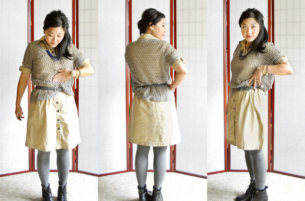Use a belt to create a tulip hemline and define waist