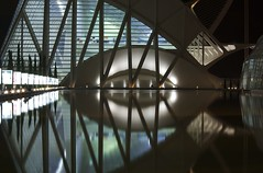 City of Science (djemde) Tags: reflection eye k night spain science artes imax cite valenia sciencas