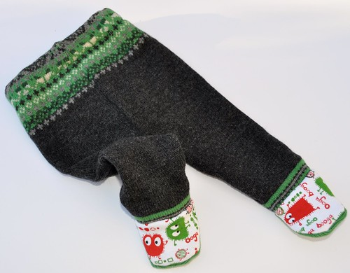 Small Recycled wool Ooga footies