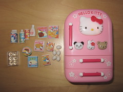 Hello Kitty Refrigerator (Broke N Doll) Tags: hello toy sanrio playset hellokittykitchen hellokittyfood hellokittyminiatures hellokittymini hellokittyrefrigerator