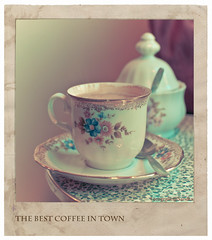 the best coffee in town (@Sandra) Tags: cup tasse coffee polaroid kaffee cologne sugar seventies zucker 70erjahre totw leuchtekln