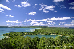 View from 'the Hill', summer (Ken Scott) Tags: summer usa day michigan lakemichigan greatlakes freshwater leelanau sleepingbearbay glenlake viewfromthehill whitepuffyclouds alligatorhill pg15 sleepingbearpoint tuckerlake sbdnl sleepingbeardunenationallakeshore slidefilmdays millerhilloverlook mostbeautifulplaceinamerica leelanaubook