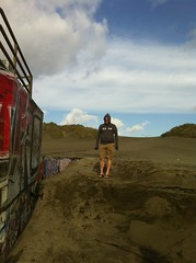 Cal at the beach