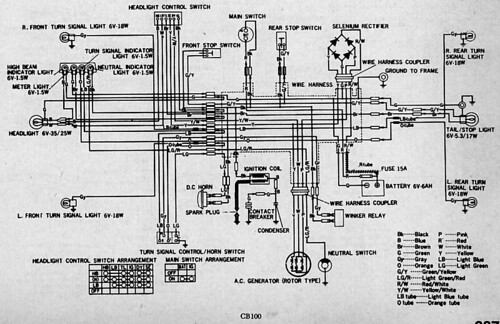 Honda Cb100 Wiring Diagram - Electrical Wiring Diagram House •