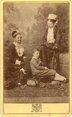 Portrait of two women and a boy by Charles Bayliss (1878-1879) (pellethepoet) Tags: photograph cartedevisite cdv portrait women child boy sydney australia charlesbayliss bayliss umbrella fashion