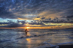 R.I.P. Steve (Didenze) Tags: ocean light sunset seascape clouds surfer rip stevejobs sunrays sanclemente didenze