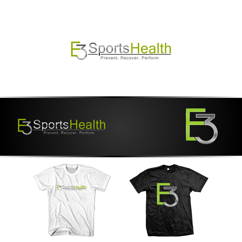 Logo design&t-shirt design- E3 Sports Health