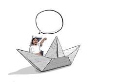 tomas (turbo color) Tags: art kids illustration design sailor dibujo nio disegno ilustracin marinero paperboat
