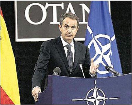 11j06 Zapatero sede Otan anuncia Escudo anti misiles en Rota