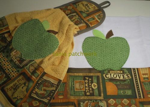 Kit Cozinha Maçã Verde by tania patchwork
