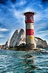 Needles Lighthouse (Chris(UK)) Tags: uk sea lighthouse coast needles isle wight snapseed