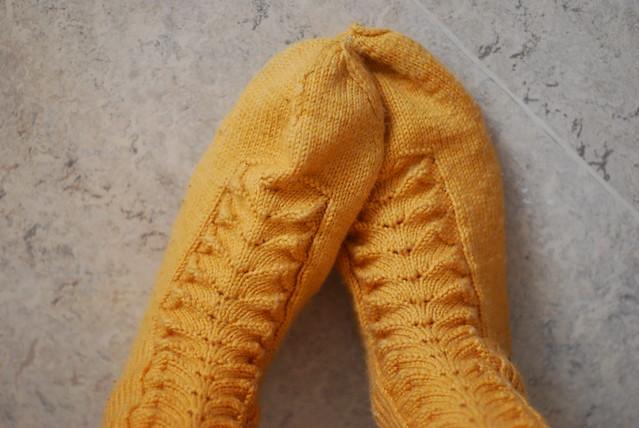 yellow warm socks