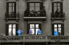 "untitled #16 (Dabhaidh Harris) Tags: barcelona white black color colour blanco standing photography cowboy balcony negro heroes cutouts superheroes fotografia balcon ""david harris"" ""dabhaidh ""daveharris75hotmailcom"" ""daveharris75gmailcom"""