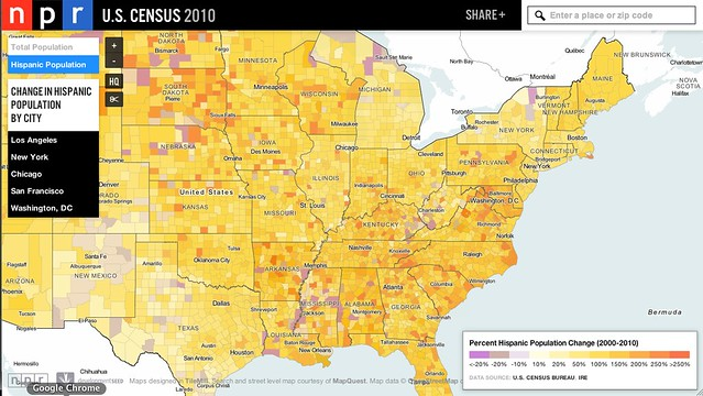 Mapping the growing Hispanic population in the United States