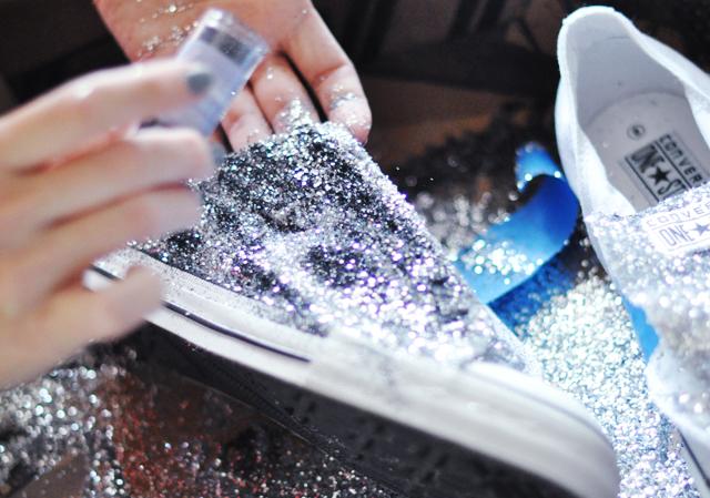 Glitter Sneaker DIY - 7