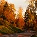 Sunrise alstern edsgatan Karlstad,Sweden.Autumn colours.