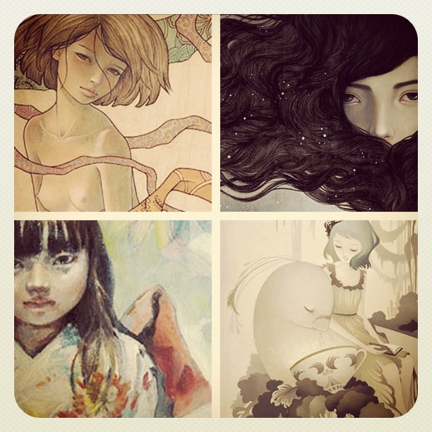 Print sets available (from Audrey, Amy, Mari & me) online now! http://www.thinkspacegallery.com/prints_dreams.php