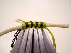 green & olive 6-strand embroidery floss