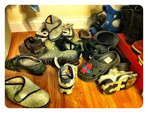Zapatos niños antes