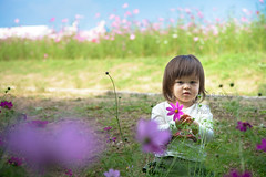 (k-ko) Tags: family autumn portrait baby flower nature girl canon eos kid child maya 5d cosmos 24105mm